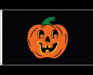 Custom made pumpkin flags for Halloween