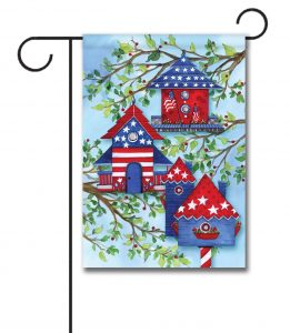 Custom printed garden flags